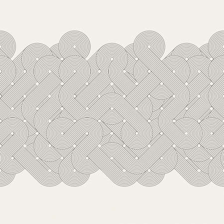 line drawing: Seamless abstract border  Twisted lines  Vector illustration
