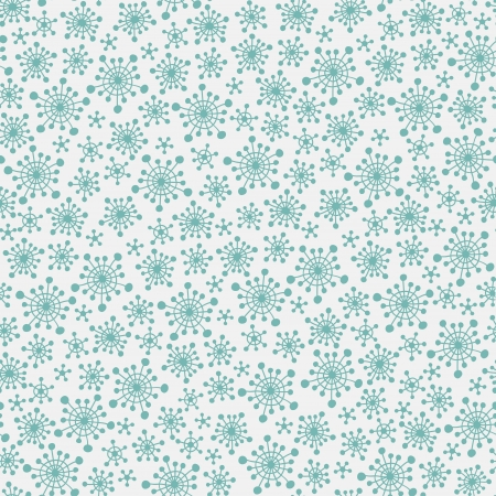 Seamless pattern with blue snowflakes  Vector illustration Vector