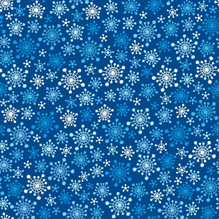 Seamless blue pattern with snowflakes  Vector illustration Vector