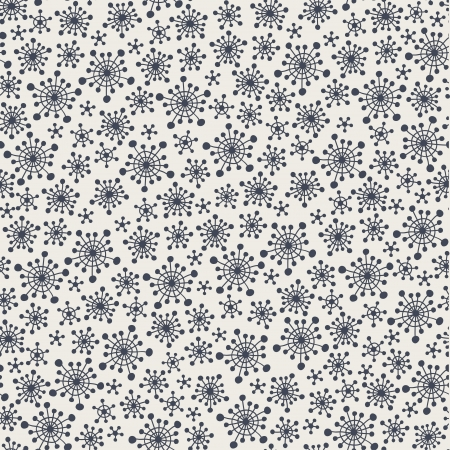 Seamless stylish pattern with snowflakes  Vector illustration Vector