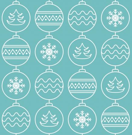 Stylish christmas balls  Seamless pattern  Vector illustration Stock Vector - 16163539