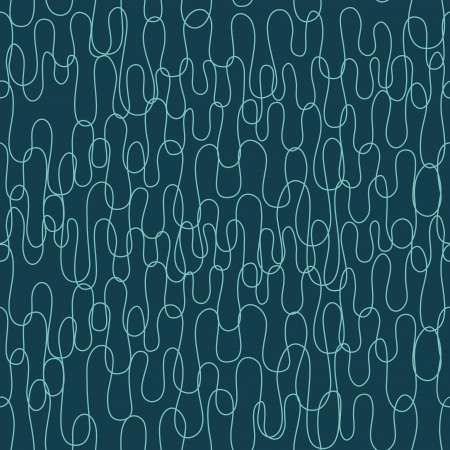 Seamless abstract pattern with curly lines  Vector illustration Çizim