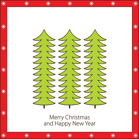 Cute christmas card   Vector illustration Stock Vector - 16399225