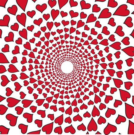 op: Vector abstract background with hearts   Vector illustration