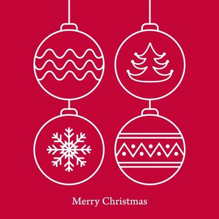 Stylish christmas balls on pink background   Vector illustration Stock Vector - 16399226