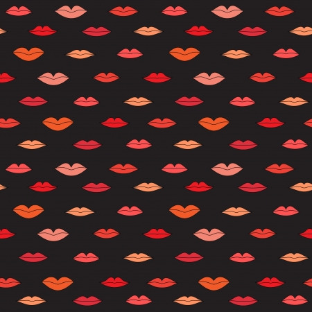 Stylish dark pattern with color lips  illustration Vector