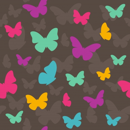Seamless stylish colorful butterfly pattern illustration Vector