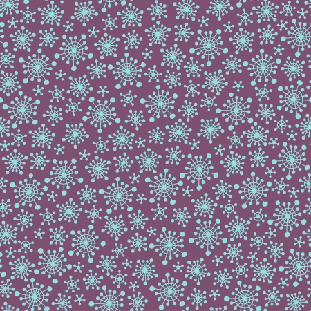 Seamless violet pattern with snowflakes Vector
