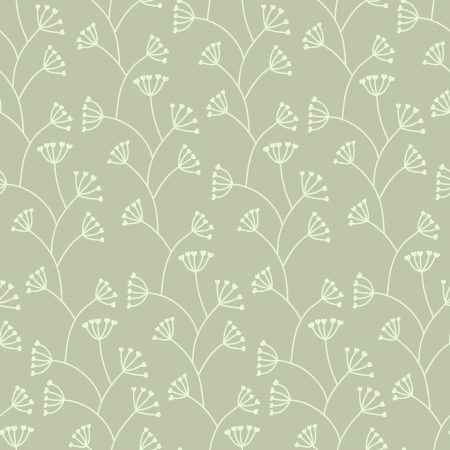 Beautiful seamless gray floral pattern Stock Vector - 16710891