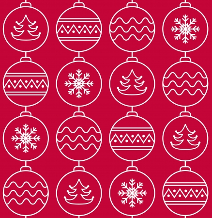 Stylish pattern with christmas balls Stock Vector - 16710884