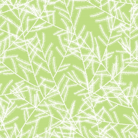 Christmas tree branches  Seamless pattern Vector