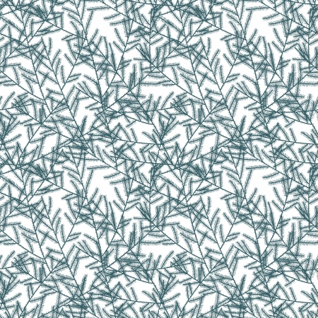 Seamless pattern with fir branches   illustration Vector