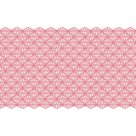 Seamless border with red curly lines  Vector illustration Stock Vector - 17225519