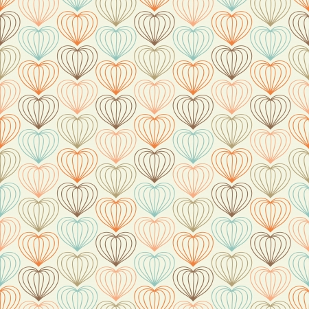 Abstract seamless hand drawn pattern with hearts  Vector illustration Stock Vector - 17225499