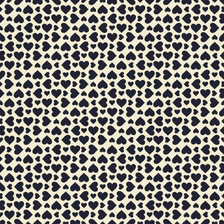 Seamless stylish pattern with black hearts  Vector illustration Vector