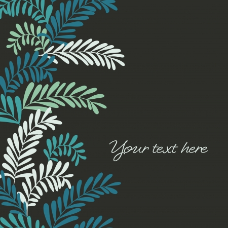 Beautiful leaf background  Seamless vertical border  Vector illustration Stock Vector - 17374577