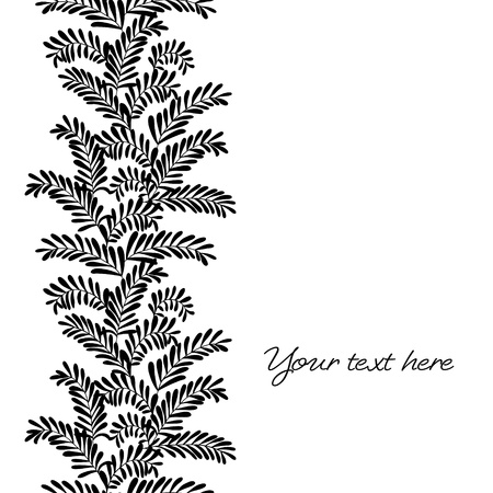 Seamless vertical border with leaves  Vector illustration Stock Vector - 17374574