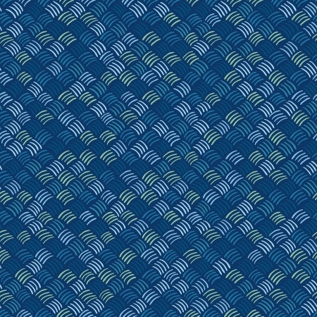 braids: Seamless abstract hand drawn pattern in blue colors  Vector illustration