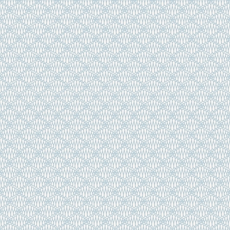 Abstract seamless blue pattern with curly lines  Vector illustration