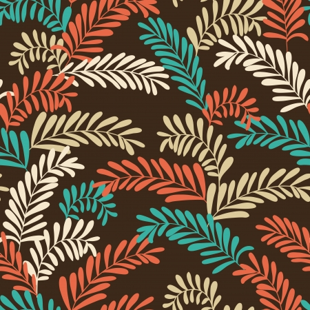 Seamless stylish pattern with leaves  illustration Stock Vector - 17723865