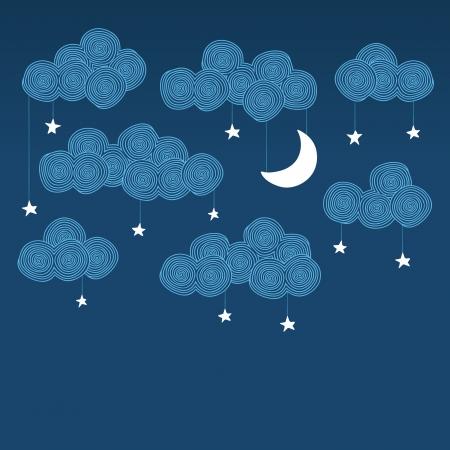 Śliczne wyciągnąć rękę nocne niebo