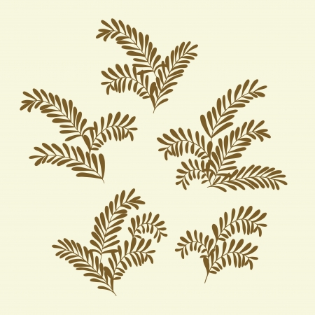 Olive branches silhouettes  Design elements  Vector