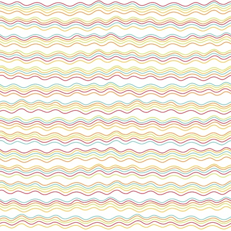 Seamless stylish hand drawn waves pattern  Vector Vector