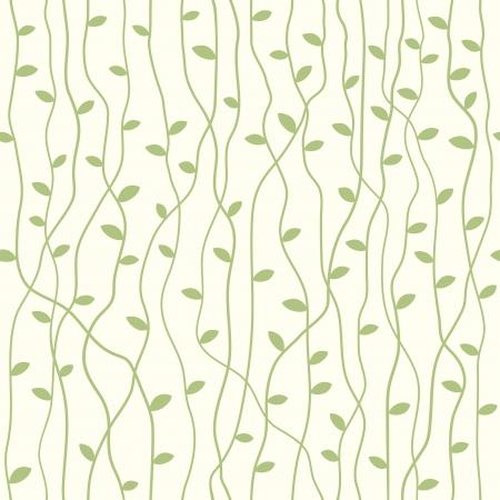 Seamless stylowy wzór z liści ilustracji wektorowych
