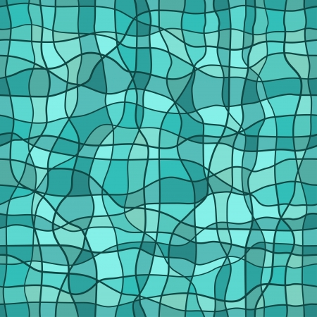 Seamless abstract pattern in blue colors  Vector photo