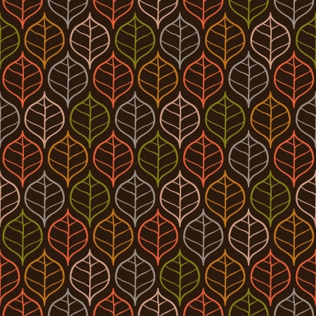 Seamless stylish pattern with leaves illustration Vector