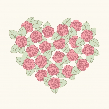 Beautiful rpmantic card  Flower heart  Vector illustration Stock Vector - 19017914