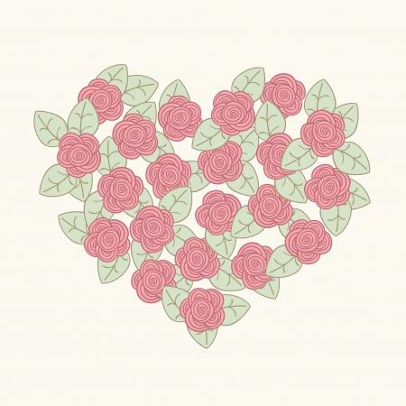 Beautiful rpmantic card  Flower heart  Vector illustration Stock Vector - 19017914