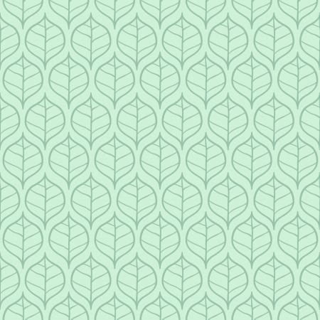 Stylish fresh spring leaf background  Seamless pattern