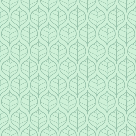 Stylish fresh spring leaf background  Seamless pattern