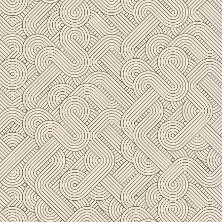 Seamless abstract pattern with twisted lines  Vector illustration