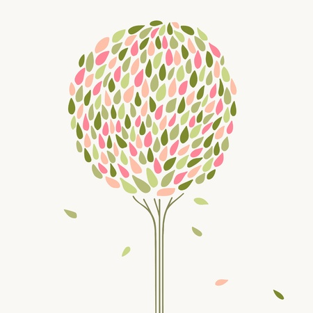 Beautiful stylized tree  Vector illustration Vector
