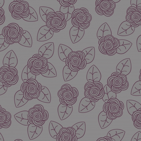 Seamless retro pattern with flowers  Vector illustration illustration