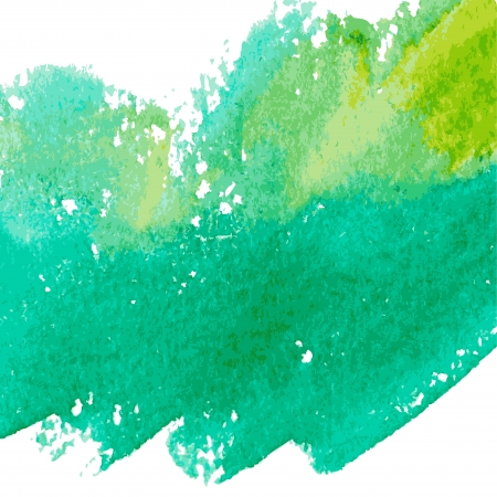 Water paint: Beautiful green watercolor background.  Illustration