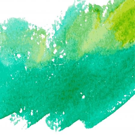 Beautiful green watercolor background.  Illustration