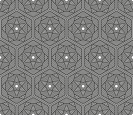 Seamless black abstract geometric pattern illustration Vector