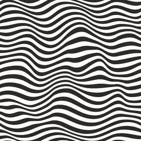 Seamless striped pattern  Black and white illustration illustration