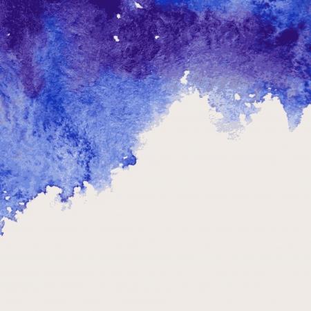 Piękne Akwarele tła ilustracji niebieski fioletowy Ilustracja