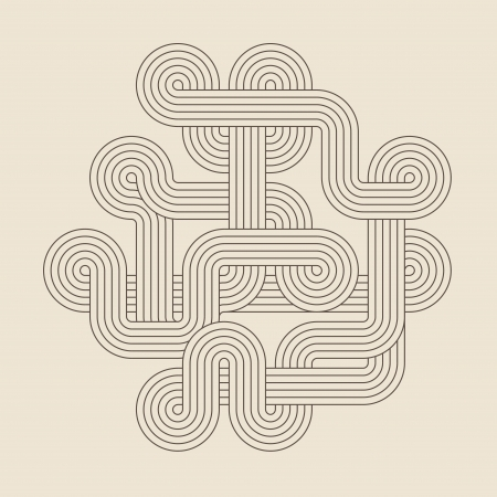 Abstract geometric shape  Twisted lines  Vector illustration Illustration