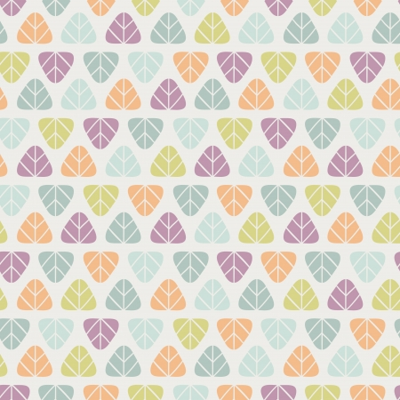 Seamless stylish simple pattern with leaves  Vector