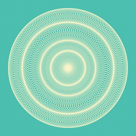concentric circles: Ornamental round abstract blue background  Vector illustration Illustration