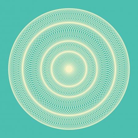 circulos concentricos: Ornamentales de ronda fondo azul abstracto ilustración vectorial