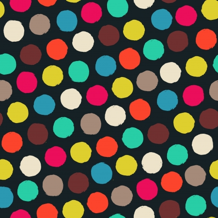 Seamless pattern with color grunge circles  Vector illustration Vector