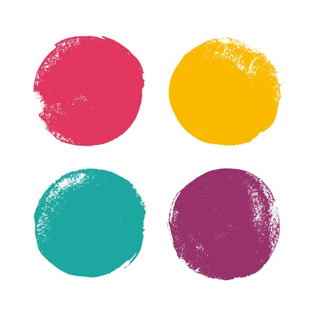 Beautiful grunge color design elements illustration