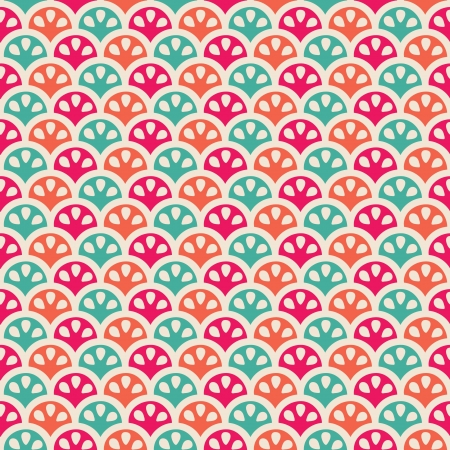 citric: Seamless creative color citric pattern illustration Illustration