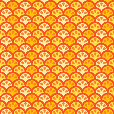 Seamless creative color citric pattern illustration Illustration